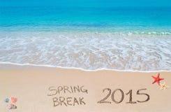 Férias da primavera 2015 na areia Imagens de Stock Royalty Free