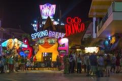 Férias da primavera na zona do partido de Cancun fotos de stock