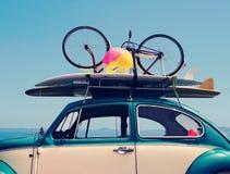 Férias da viagem por estrada das férias de verão do vintage Imagens de Stock