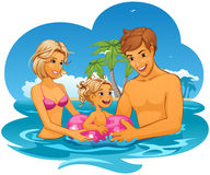 Férias de família Imagem de Stock