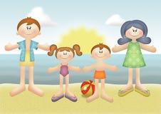 Férias de família ilustração do vetor