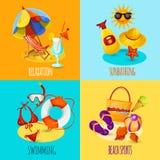 Férias de verão ajustadas Fotografia de Stock Royalty Free