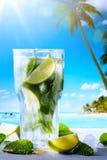 Férias de verão da arte; Bebidas tropicas exóticas da praia fotografia de stock