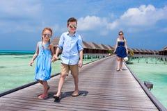 Férias de verão da família Fotos de Stock Royalty Free