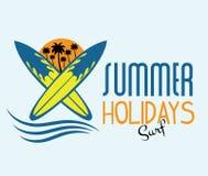 férias de verão da ressaca ilustração royalty free