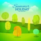 Férias de verão do vetor Fotos de Stock
