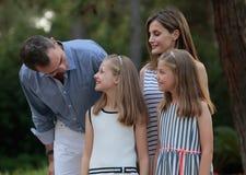 Férias de verão 028 dos royals da Espanha Fotografia de Stock