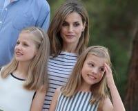 Férias de verão 028 dos royals da Espanha Fotos de Stock