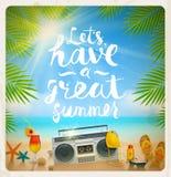 Férias de verão e ilustração das férias Fotos de Stock Royalty Free