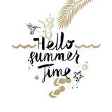 Férias de verão e ilustração tropical das férias Imagem de Stock Royalty Free