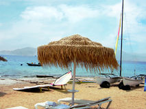 Férias de verão em um mar Fotografia de Stock Royalty Free