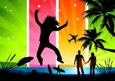 Férias de verão felizes! Imagem de Stock