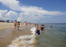 Férias de verão na cidade Maryland do oceano fotos de stock
