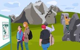 Férias de verão nas montanhas Imagem de Stock