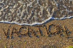 Férias de verão no seashore Imagens de Stock Royalty Free