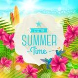 Férias de verão que cumprimentam Imagem de Stock