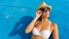 férias de verão de relaxamento Imagens de Stock