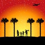 Férias de verão, vacatio da família ilustração royalty free