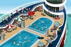 Férias do cruzeiro ilustração stock