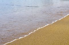Férias e conceito da paz Praia tropical bonita, onda macia h Fotos de Stock Royalty Free