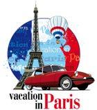 Férias em Paris ilustração do vetor