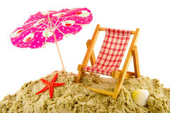 Férias na praia Foto de Stock