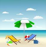 Férias na praia ilustração royalty free