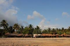 Férias na praia de Klayar, Pacitan Fotografia de Stock
