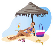 Férias nos Tropics ilustração royalty free