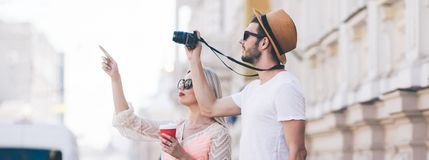 Férias Sightseeing do turismo da família do curso fotografia de stock royalty free