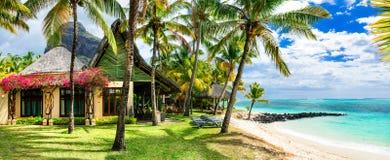 Férias tropicais luxuosas Ilha de Maurícias fotos de stock royalty free