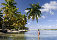 Férias tropicais luxuosas - Polinésia francesa Foto de Stock Royalty Free