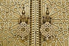 Fés, Tür des königlichen Palastes Lizenzfreie Stockbilder
