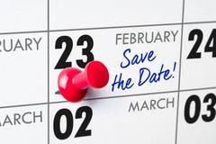 23 février Photographie stock libre de droits