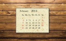 Février 2014 Photos stock