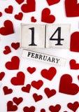 14 février calendrier Photos stock