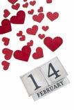 14 février calendrier Photographie stock libre de droits