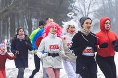 9 février 2019 course de Minsk Belarus consacrée au 14 février pour le Qahanna image stock