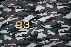 23 février Défenseur du jour de patrie Carte de voeux vierge Photos stock