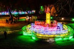 Février 2013 - Harbin, Chine - festival de lanterne de glace Photos libres de droits