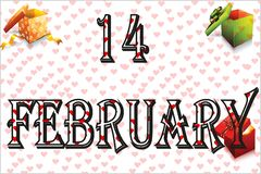14 février jours de valentines illustration de vecteur