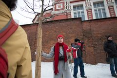 25 février 2018, la RUSSIE, MOSCOU Mars de la mémoire de Boris Nemtsov au centre de Moscou, l'anneau de boulevard, Russie Photo libre de droits