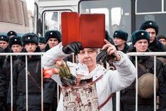 25 février 2018, la RUSSIE, MOSCOU Mars de la mémoire de Boris Nemtsov au centre de Moscou, l'anneau de boulevard, Russie Photo stock