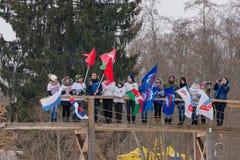11 février 2017 marathon 2017 annuel de ski de Nikolov Perevoz Russialoppet de course de ski de domaine d'art-Veretevo Course de  Photographie stock libre de droits