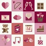 Février Valentine Icon Set Vector heureux Photo stock