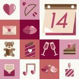 Février Valentine Icon Set Vector heureux Photographie stock libre de droits