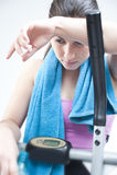 Fêmea após o cardio- exercício Fotografia de Stock