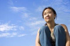 Fêmea asiática Foto de Stock Royalty Free