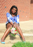 Fêmea bonita do americano africano Foto de Stock Royalty Free