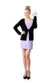 Fêmea com gesto aprovado. Fotografia de Stock Royalty Free